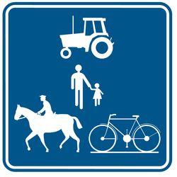 Verkeersbord recreatieve wegen
