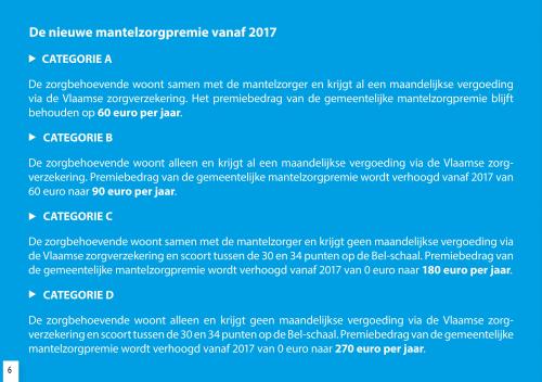Nieuwe mantelzorgpremie vanaf 2017