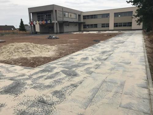 Werken speelplaats school juli 2017
