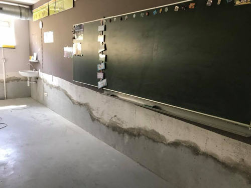 Vochtprobleem lagere school opgelost