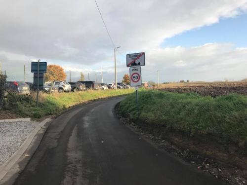 Nieuwe asfalt Vlaasstraat Bunsbeek nov 17