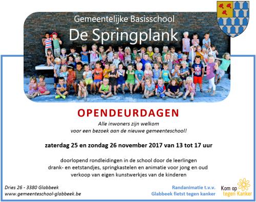 Uitnodiging opendeur school