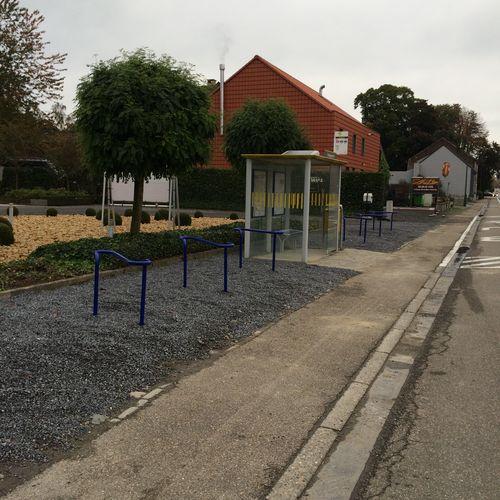 Bushalte steenweg Glabbeek fietsstallingen