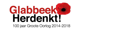Glabbeek Herdenkt einde WO I logo
