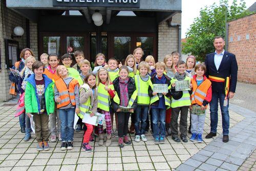Bezoek school Glabbeek aan gemeentehuis 2014