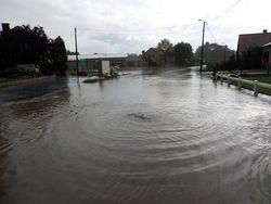 Wateroverlast Bunsbeek Dorp 8 aug 14