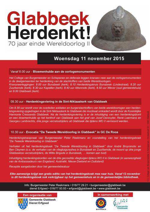 Affiche Glabbeek Herdenkt WO II