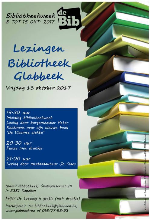 Affiche bibliotheekweek 2017