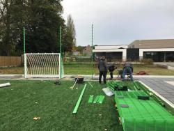 Opbouw sportkooi school foto 2