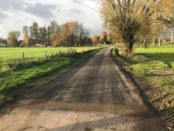 Nieuwe asfalt Broekjesweg nov 2017