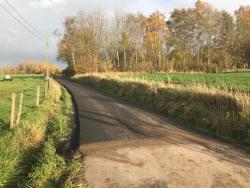 Nieuwe asfalt zijstraat Meenselbeekstraat nov 2017
