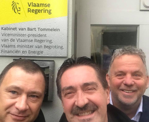 Hans Johnny en Peter in Brussel bij kabinet Minister energie