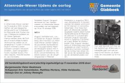 Herdenkingsbord Attenrode Wever