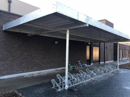 Nieuwe fietsstalling gemeenteschool