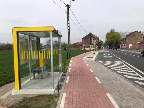 Nieuwe haltehaven de Lijn in Bunsbeek
