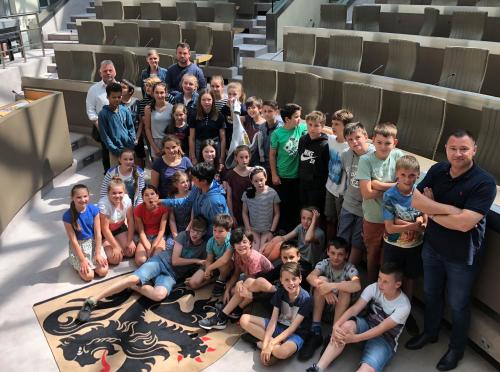 Bezoek school Glabbeek aan Vlaams Parlement