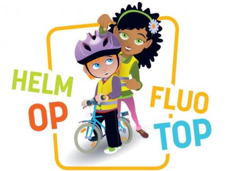 Campage helm op fluo top
