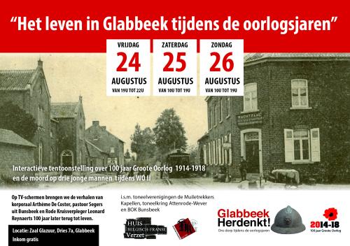 Glabbeek herdenkt advertentie tentoonstelling augustus 2018