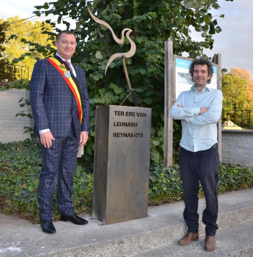 Inhuldiging monument WO I samen met Frederik Vaes