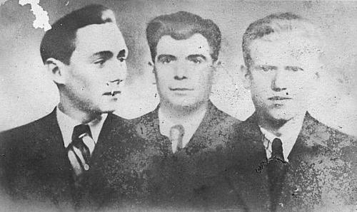 De 3 vermoorde jonge mannen tijdens WO II