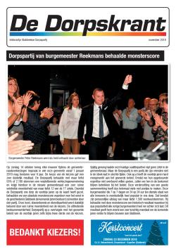 Cover dorpskrant november 2018