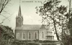 Kerk zuurbemde oude foto