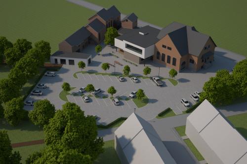 Nieuwe omgeving gemeentehuis en sociale woonwijk de Melkroos foto 2