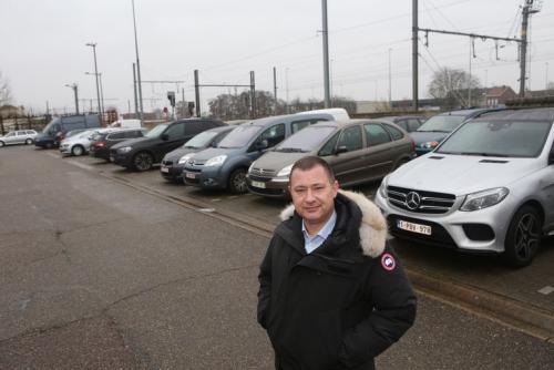 Peter Reekmans aan station Tienen