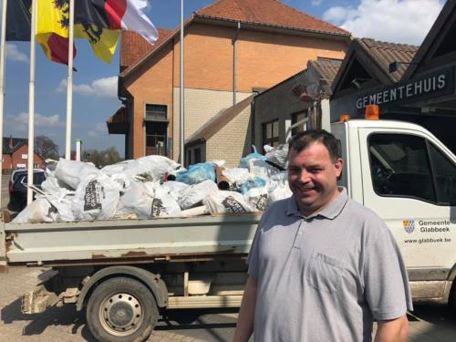 Schepen Kris Vanwinkelen grote lenteschoonmaak Glabbeek