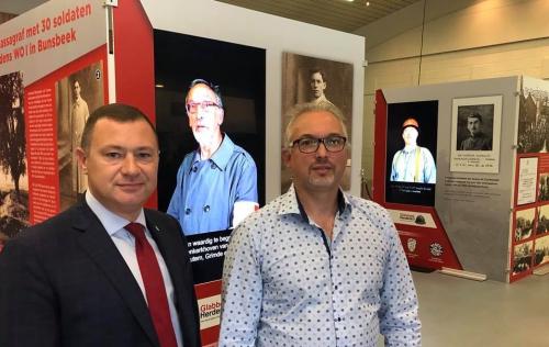 Peter en Ronny tentoonstelling oorlog