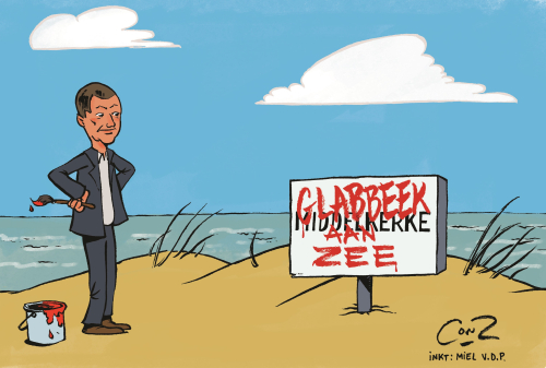 Cartoon Middelkerke en Glabbeek close