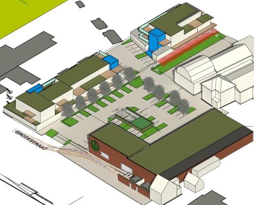 Nieuw commercieel centrum Glabbeek