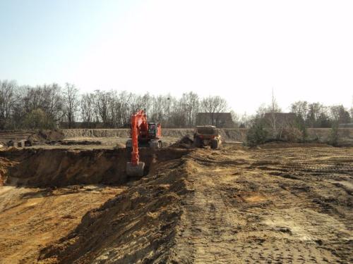 Bufferbekken uitgraven 2