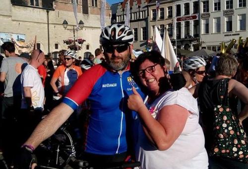 Hilde 1000 km fietsen tegen kanker
