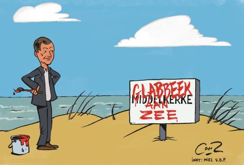 Cartoon Middelkerke en Glabbeek close