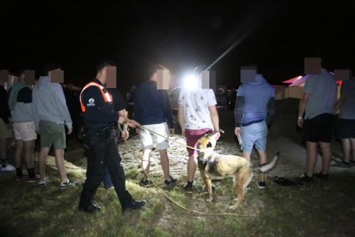 Drugsactie politiehond