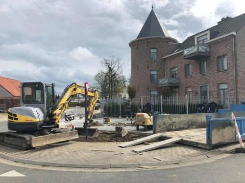 Heraanleg hoek Dries en Craenenbroekstraat dorpskernvernieuwing