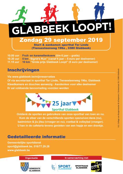 Affiche Glabbeek loopt 2019