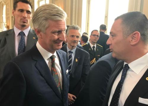 De Koning en burgemeester Peter Reekmans