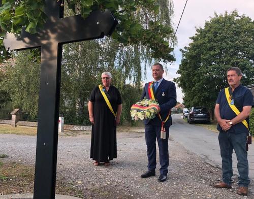 Bloemenhulde 18 augustus 2020 herdenkingsmonument WO I Bunsbeek foto 26
