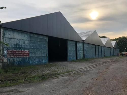 Loodsen gemeentelijk domein nieuw dak