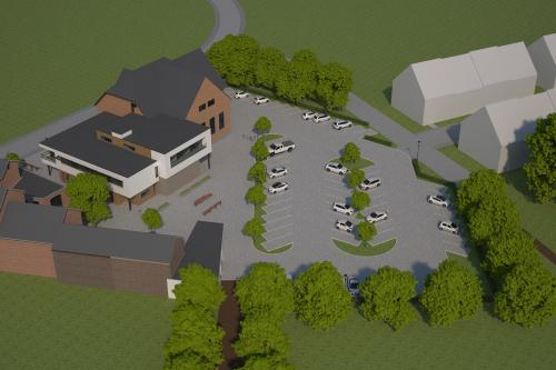 Nieuwe omgeving gemeentehuis en sociale woonwijk de Melkroos foto 1