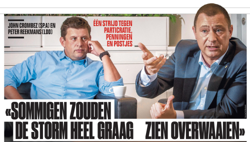 Interview HLN Crombez en Reekmans foto