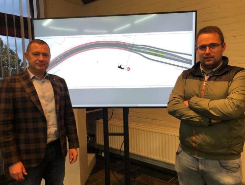Burgemeester en gemeenteraadslid Simon Vandermeulen foto nieuwe fietspaden