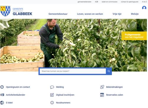 Nieuwe website gemeente