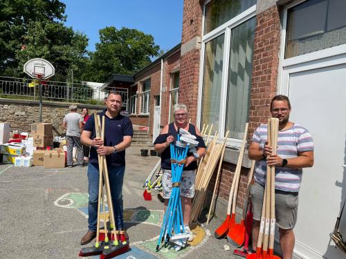 Glabbeek helpt leveren in Trooz 21 juli 2021