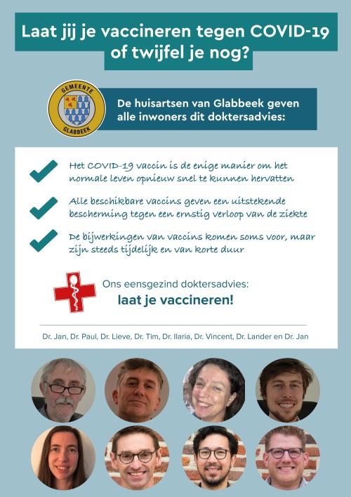 Flyer vaccinatie huisartsen online