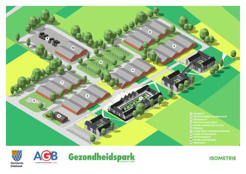 Toekomstbeeld gemeentelijk domein en zorgpark Steenbergestraat 44 Glabbeek